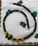 Black Onyx Bali Bead Necklace by KatrinaFTW44