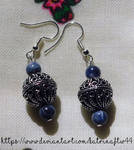 Sodalite Bali Bead Earrings by KatrinaFTW44
