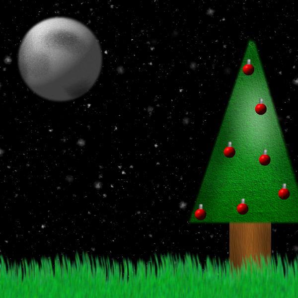 Christmas Tree In The Night by OddAlpaca