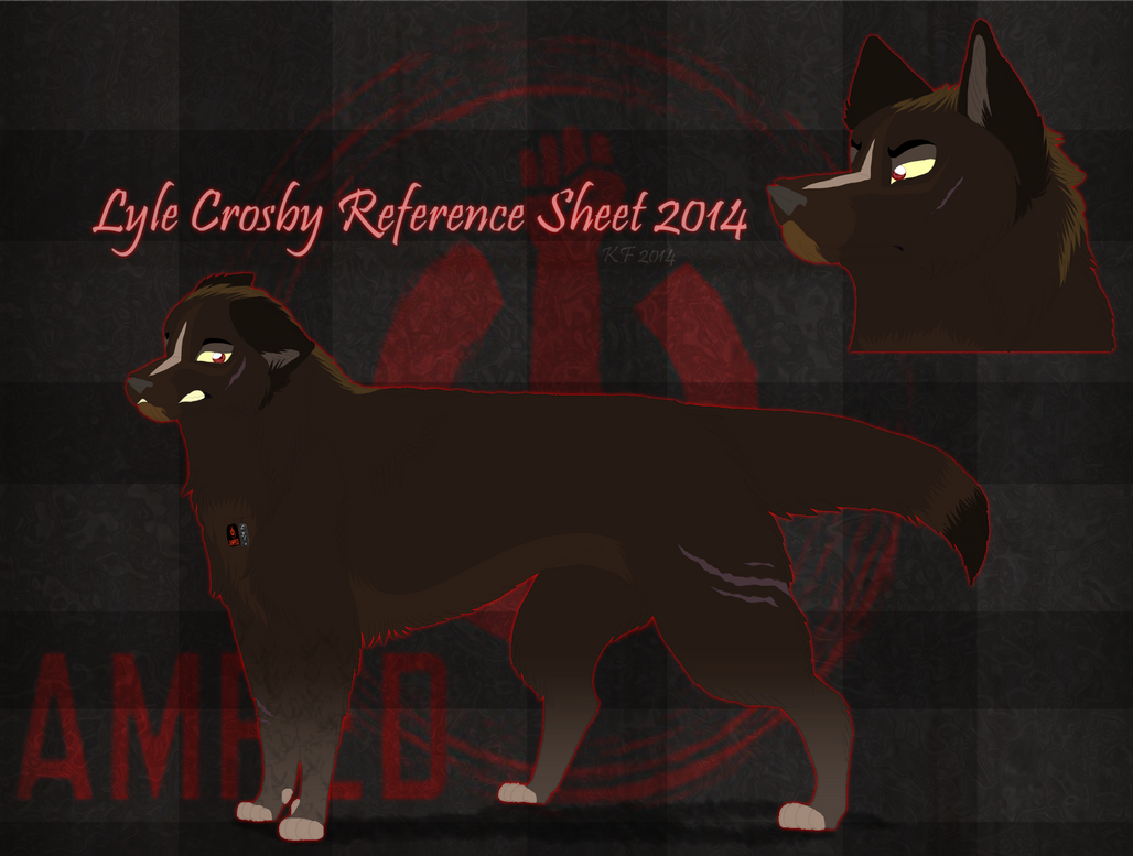 Lyle Crosby Reference Sheet Fall 2014 by MorningAfterWolf