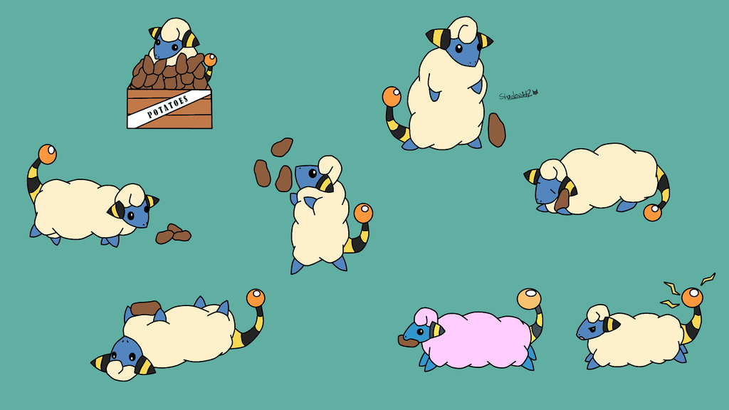 Mareep Backround by Shadowpelt02