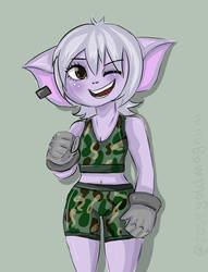 Tristana in gym clothes  by rosegold-magnum