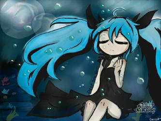 Deep Sea Girl (Hatsune Miku) by Mad-Squib-Draws