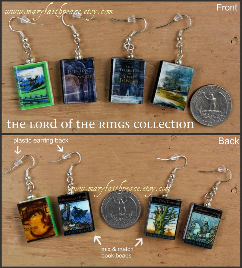 Lord of the Rings Earrings by maryfaithpeace