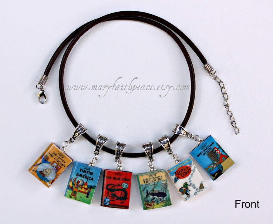 Tintin Leather Necklace by maryfaithpeace