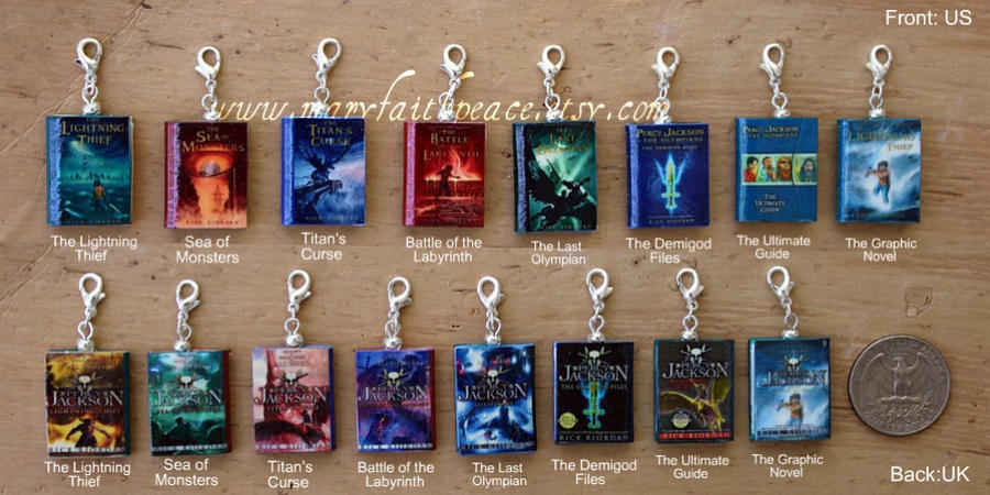 Percy Jackson Mini Books from Durable Clay by maryfaithpeace
