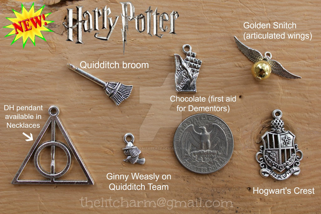 HARRY POTTER INSPIRED CHARMS by maryfaithpeace