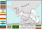 Map of the United States of North Caucasus