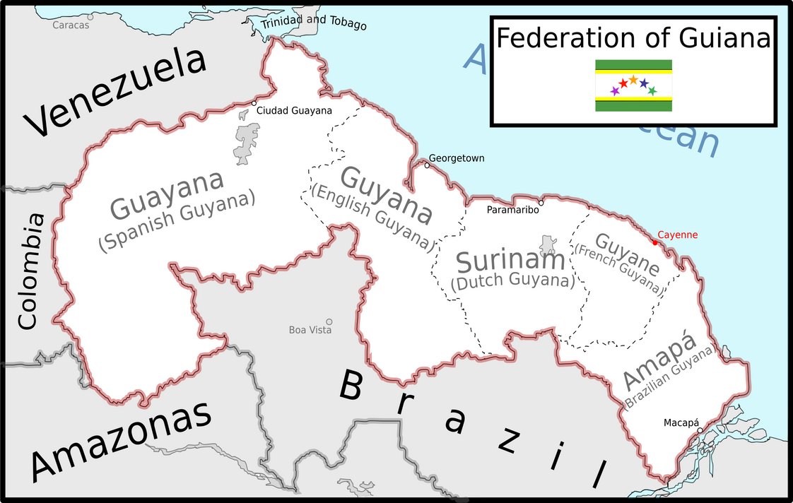 Map of the Federation of Guiana by ColiopKolchovo on DeviantArt
