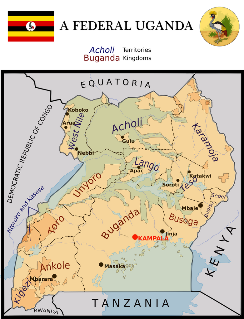Map of the Federation of Uganda by Coliop-Kolchovo