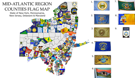 Mid-Atlantics County Flags Map by Coliop-Kolchovo