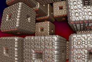 Menger Cubes by allthenightlong