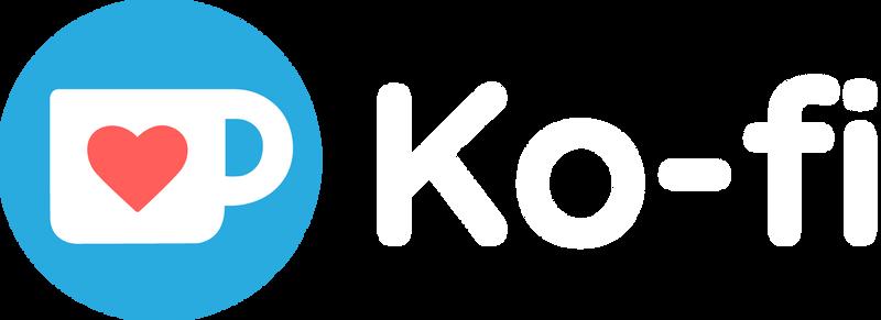 Ko-fi Logo RGB DarkBg