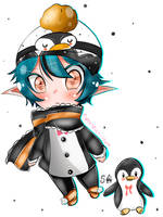 Sleepy penguin Adopt Extra by Silvers-Ace