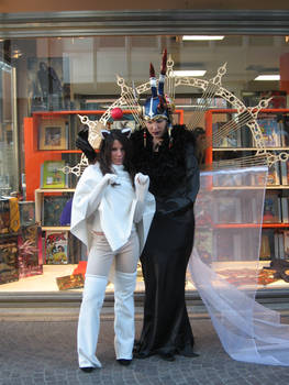 Edea and moogle cosplay