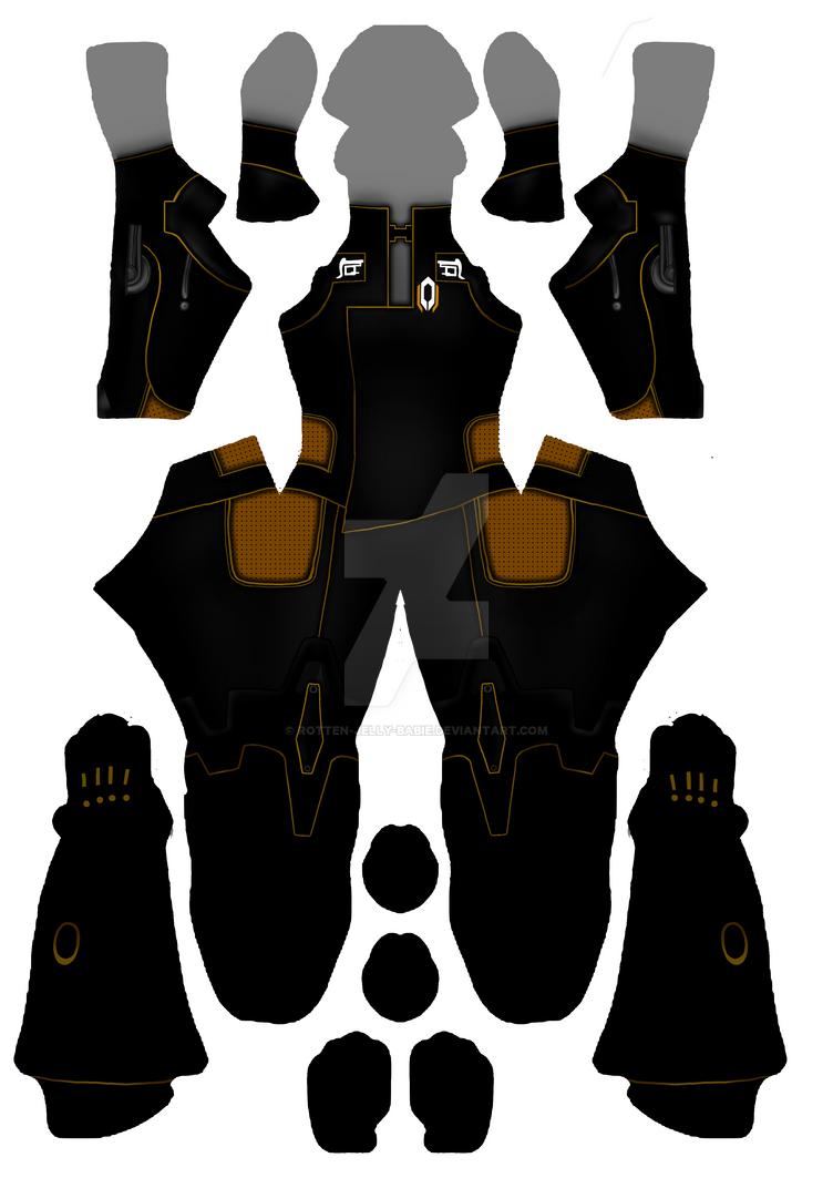 Miranda zentai suit pattern by rotten-jelly-babie