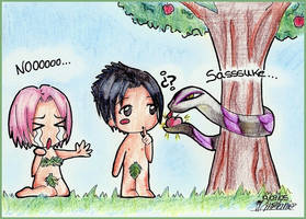 Sakura y Sasuke en el Eden by Inner-mel
