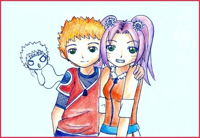 Hijos de Naruto y Sakura xD by Inner-mel