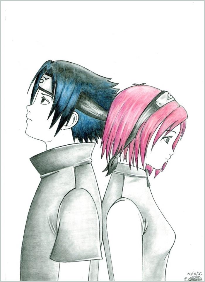 Sakura y Sasuke by Inner-mel on DeviantArt