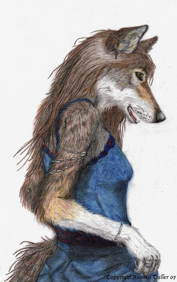 Anthro Female Wolf