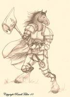 Horse Warrrior by RussellTuller