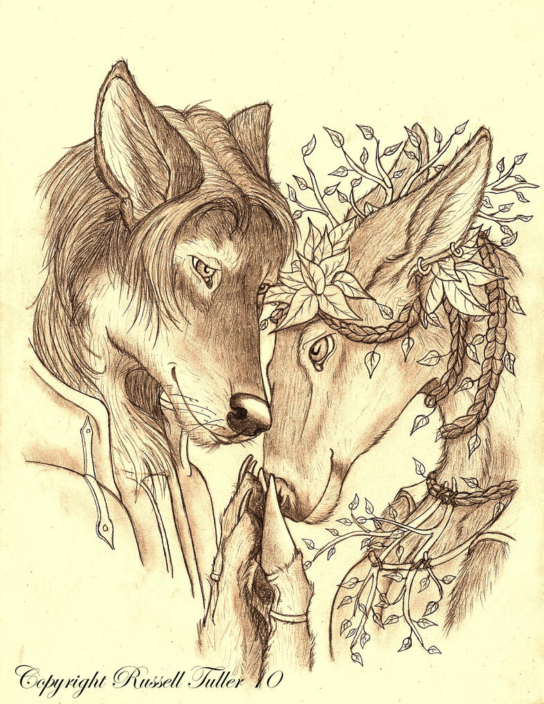 Portrait of an Anthro Couple by RussellTuller