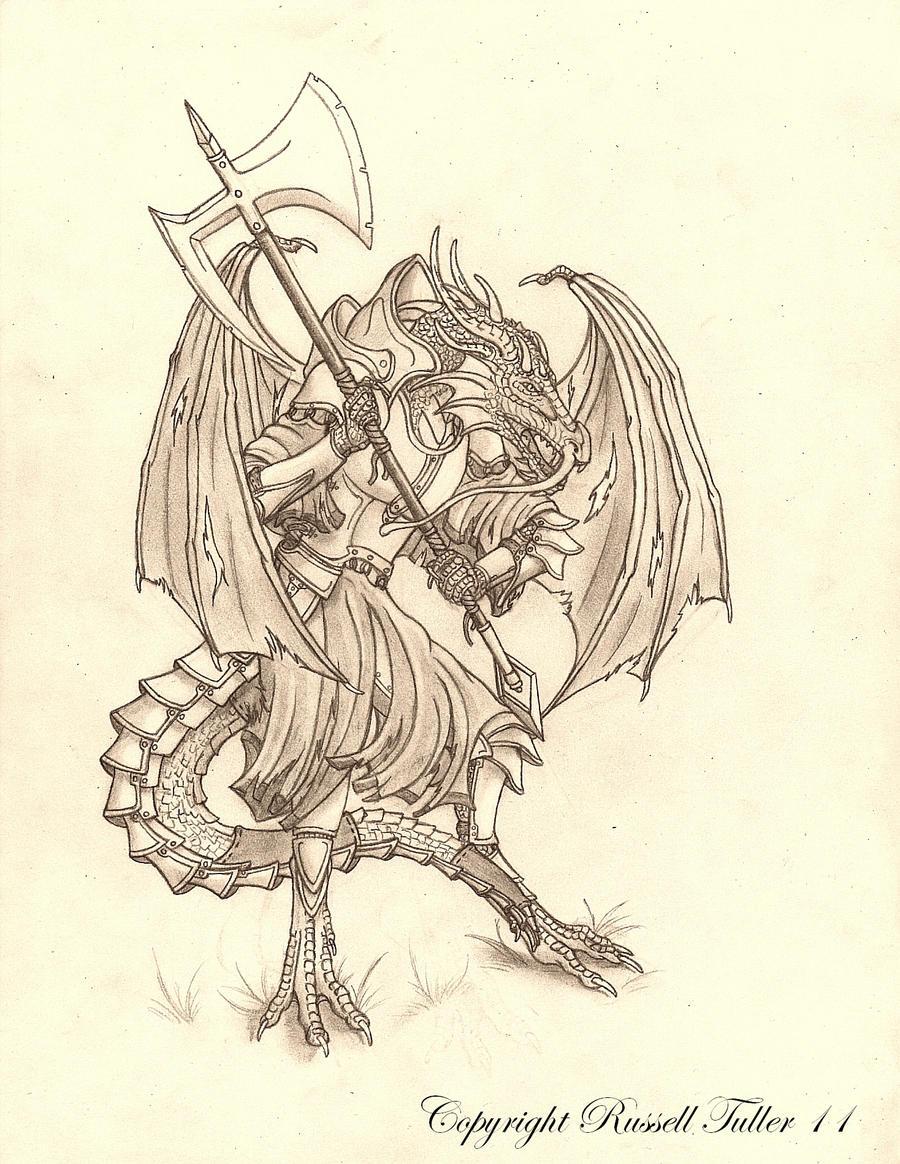 Dragon Warrior  Battle Stance by RussellTuller
