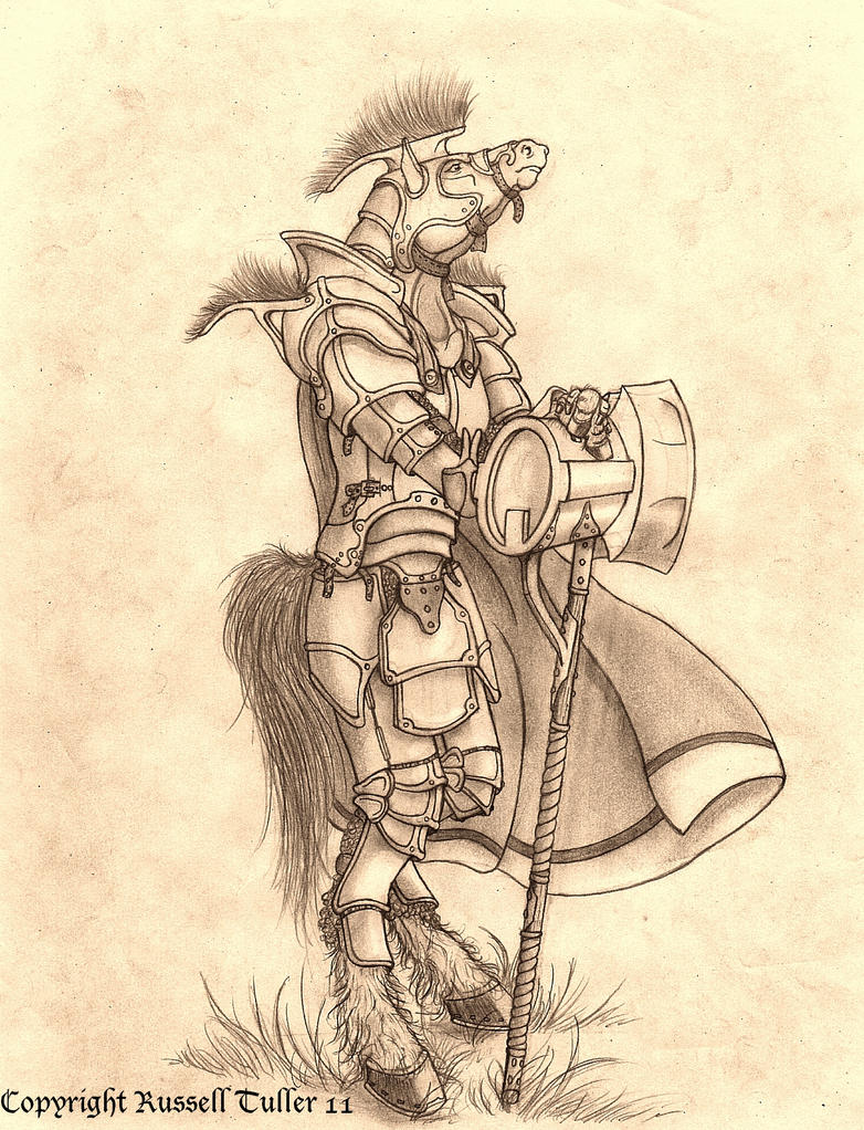Anthro Horse General by RussellTuller