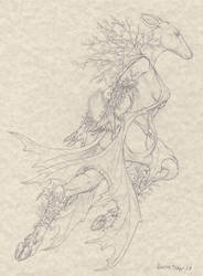 Power and Grace -Line Art-