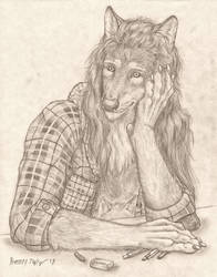 Anthro Self Portrait 2018 by RussellTuller