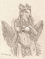 Pterolycus Goddess by RussellTuller