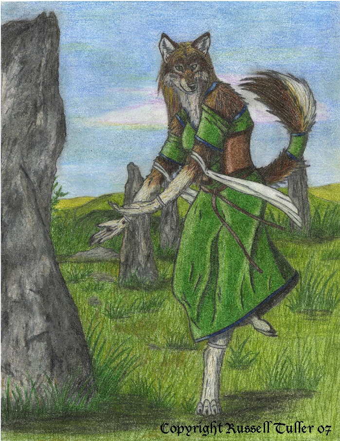 Wolf Anthro Warrior Wolf Anthro Dancer by