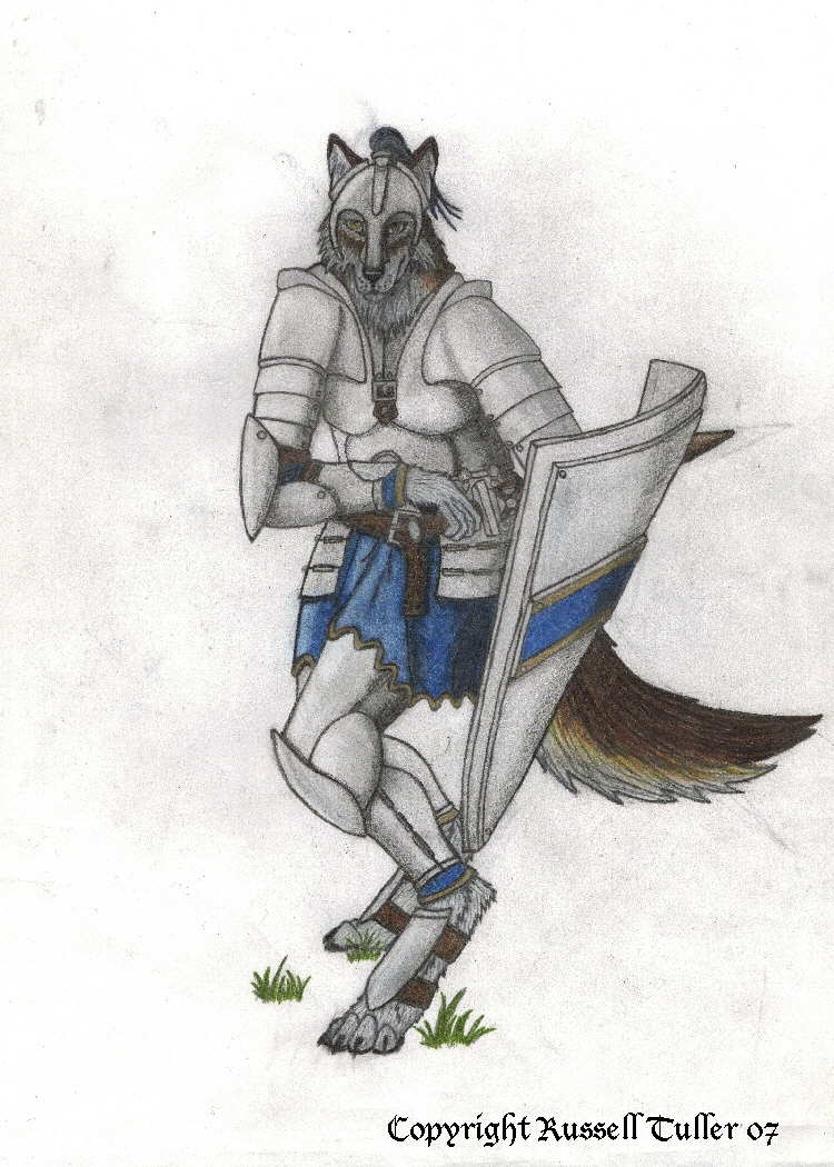 Wolf Anthro Warrior Wolf Anthro Warrior by