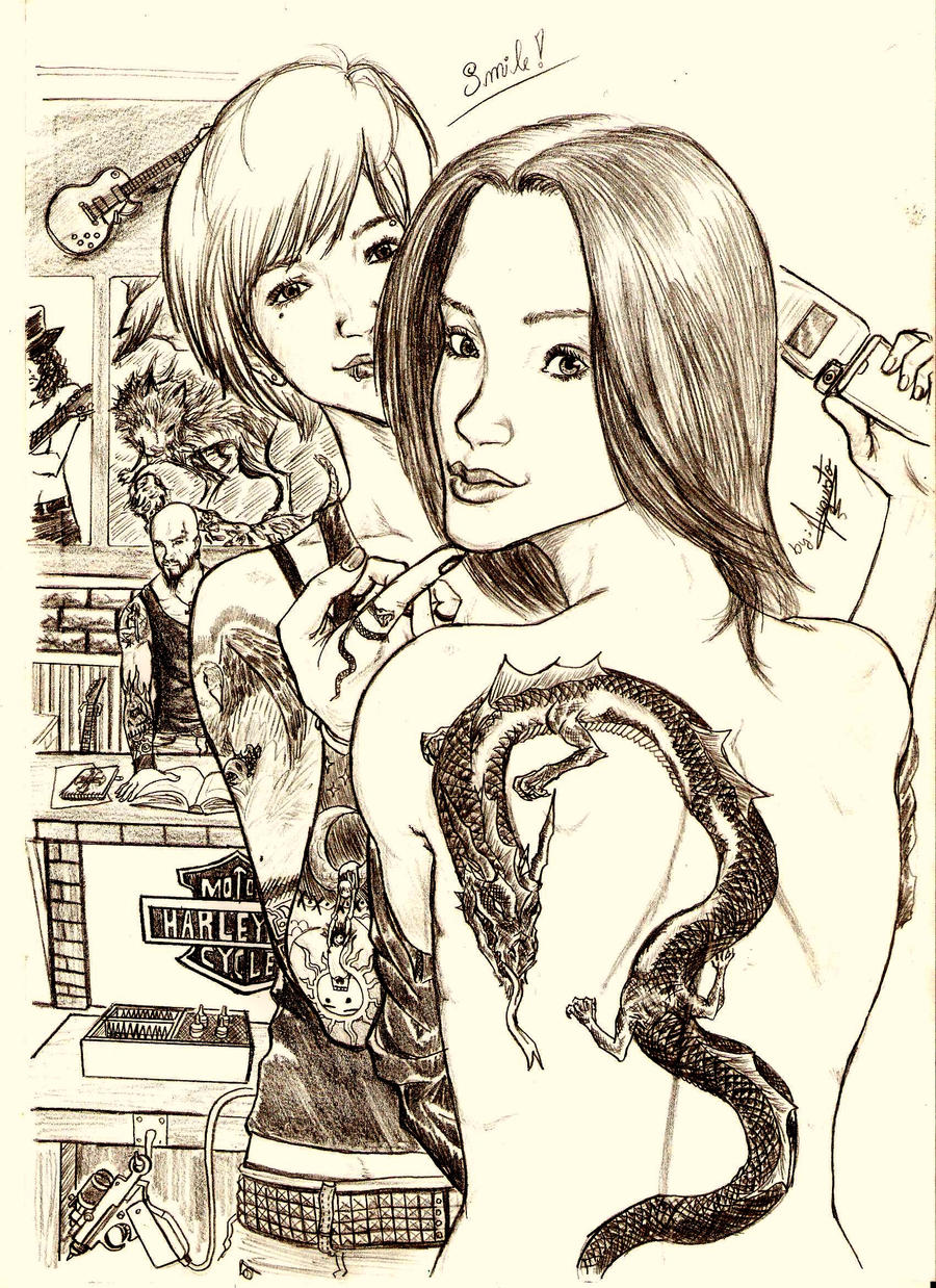 Tatoo Shop by lowstrikes