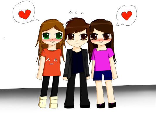Two Girls And A Boy Xp By Tammyyy On Deviantart