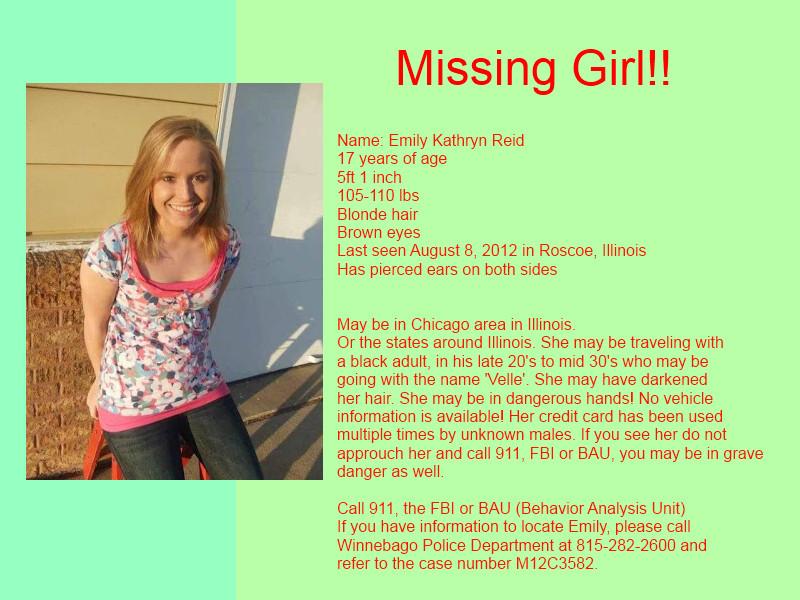 Urgent: Missing Girl (READ BELOW) by Dr-royal on DeviantArt