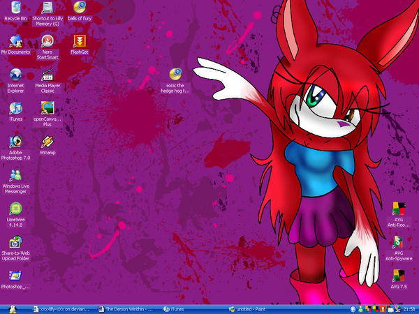Desktop For 2008 by LillyRabbit