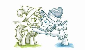 Applejack and Pinkie Pie