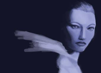 Monochrome portrait 1 by MaxRogue
