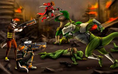 Battle on Adora by ShaneTheWolf