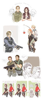 RE 6 Tumblr Sketch Dump
