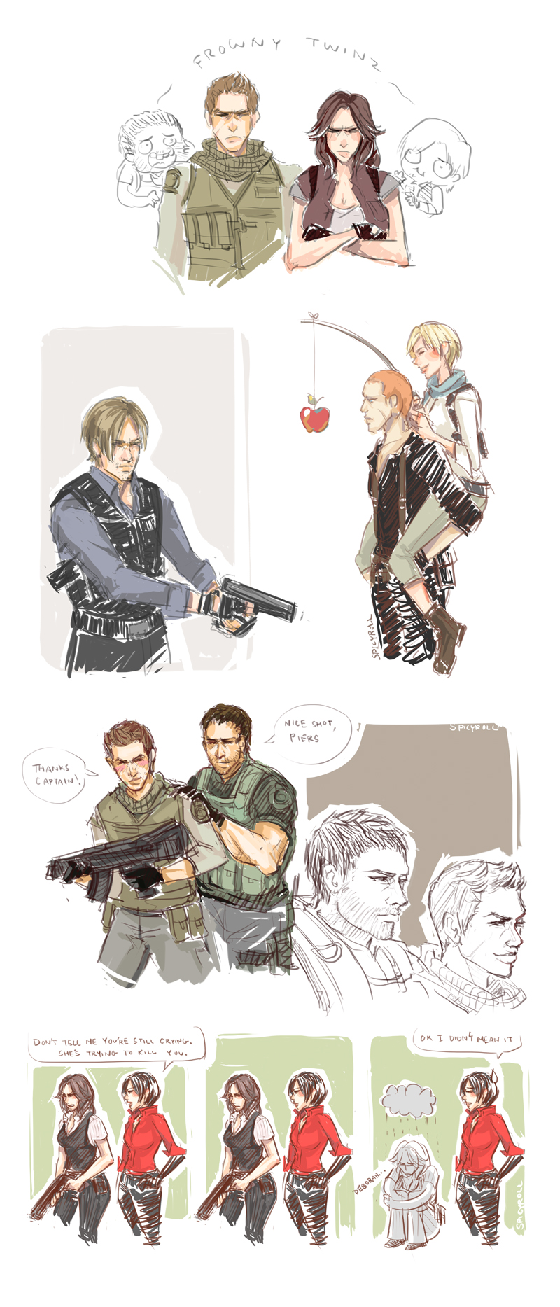 RE 6 Tumblr Sketch Dump by spicyroll