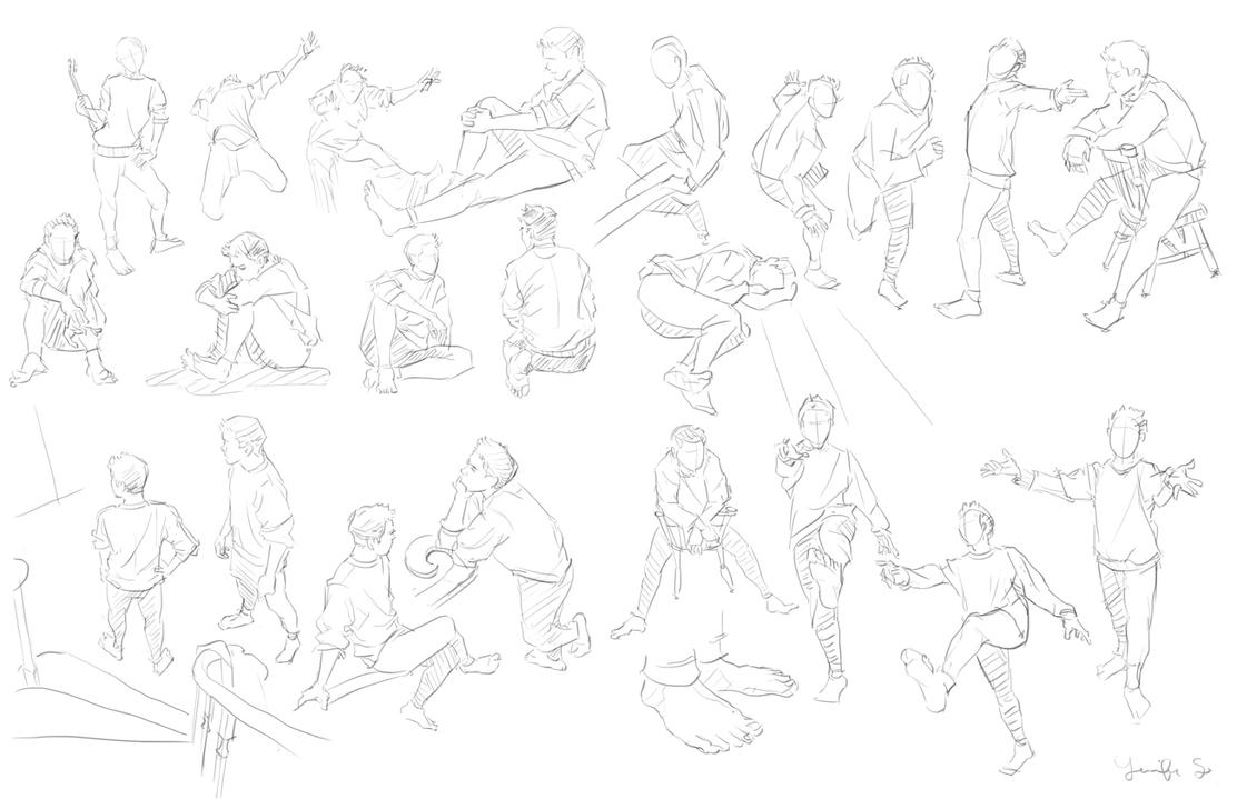 Figure/Pose Studies 1 by spicyroll