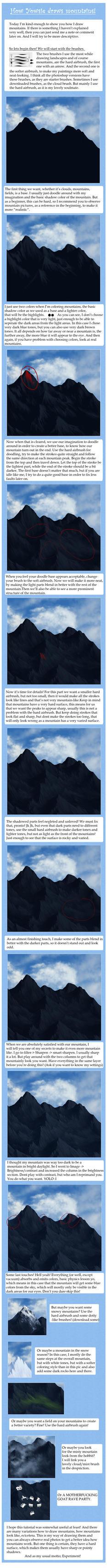 Mountain Tutorial by Yowsie