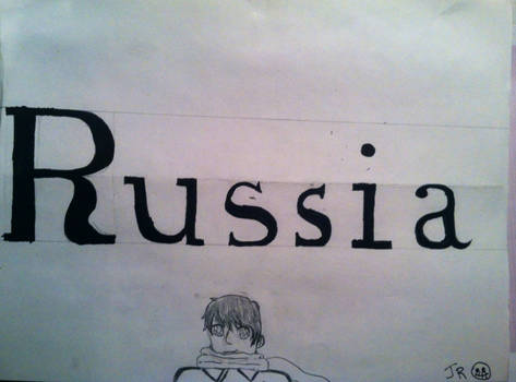 Russia calligraphy