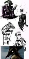 Mass Batman- sketch dump by Skizoh