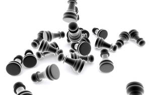 chessmen black and white by dzapffe19