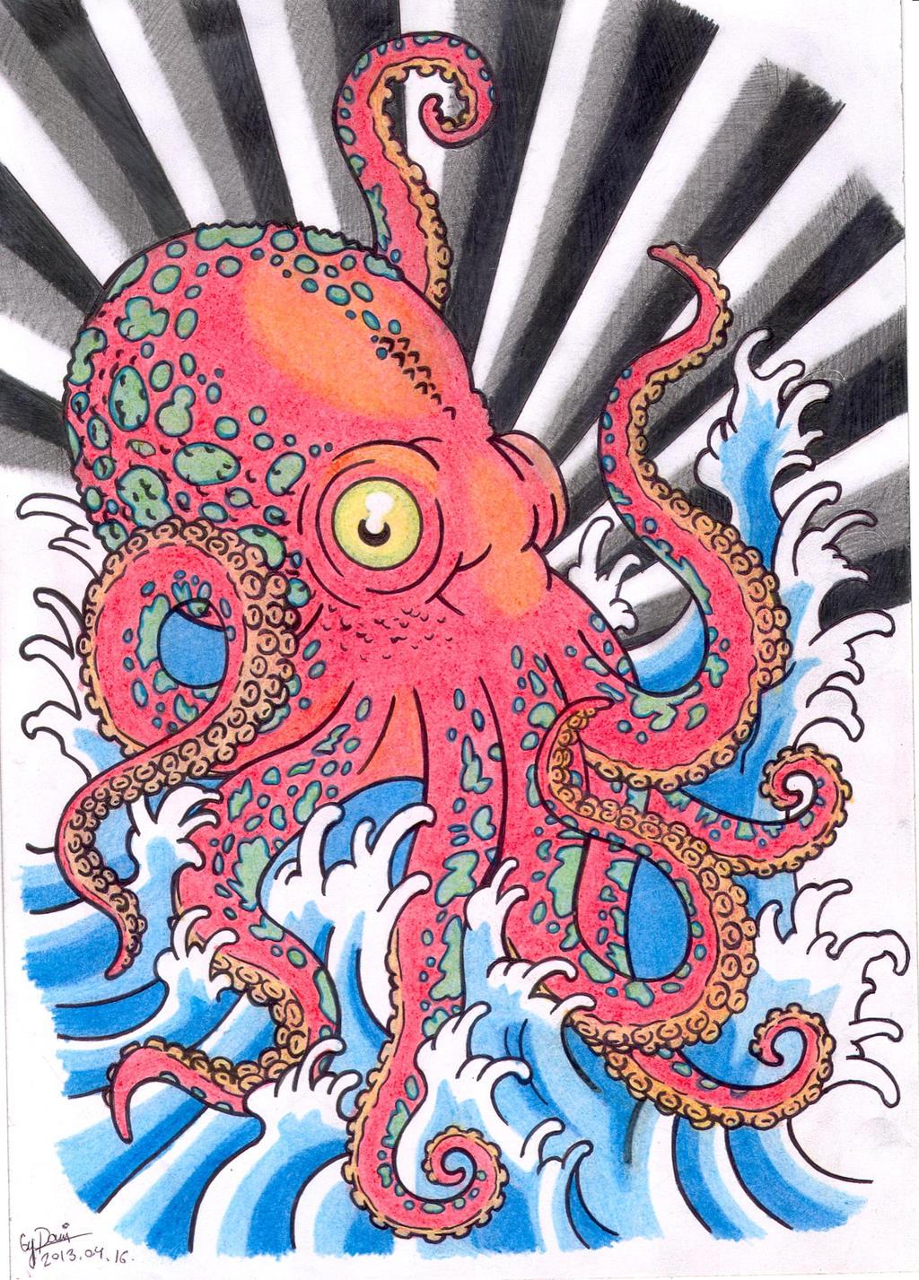 octopus tattoo design by brianjones90 on deviantart. Black Bedroom Furniture Sets. Home Design Ideas