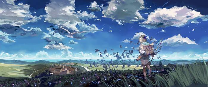 Atelier Firis - Wallpaper 3440x1440