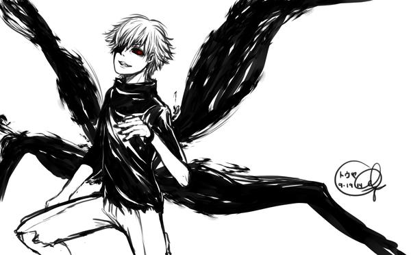 Tokyo Ghoul: Kaneki-Kun Fanart again by 0din-Cosplayer